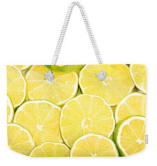 Colorful Limes Weekender Tote Bag by James BO  Insogna