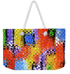 Colorful Modern Art - Pieces 11 - Sharon Cummings Weekender Tote Bag by Sharon Cummings