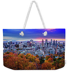 Weekender Tote Bag featuring the photograph Colorful Montreal  by Mircea Costina Photography