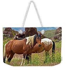 Colorful Mustang Horses Weekender Tote Bag