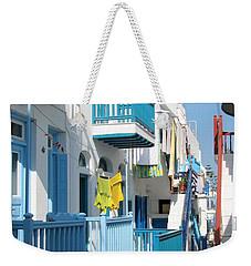 Colorful Mykonos Weekender Tote Bag by Carla Parris