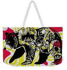 Colorful Native Black Bear Weekender Tote Bag by Ayasha Loya