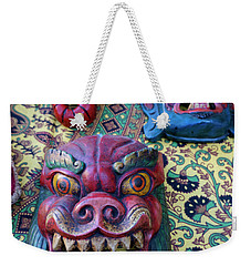 Colorful Nepalese Masks Weekender Tote Bag by John  Mitchell