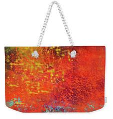 Weekender Tote Bag featuring the painting Colorful Night by Nancy Merkle
