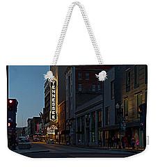 Colorful Night On Gay Street Weekender Tote Bag
