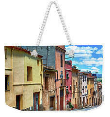 Colorful Old Houses In Tarragona Weekender Tote Bag