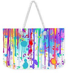 Weekender Tote Bag featuring the painting Colorful Painted Frog  by Nick Gustafson