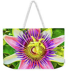Colorful Passiflora Flower Of Bermuda Weekender Tote Bag