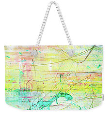 Colorful Pastel Art - Mixed Media Abstract Painting Weekender Tote Bag