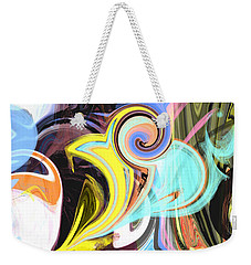 Colorful Pastel Swirls Weekender Tote Bag by Jessica Wright