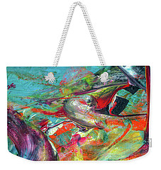 Colorful Puffin Bird Art - Happy Abstract Animal Birds Painting Weekender Tote Bag