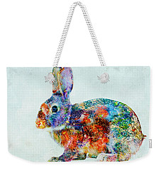 Colorful Rabbit Art Weekender Tote Bag