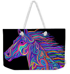 Colorful Rainbow Stallion  Weekender Tote Bag by Nick Gustafson