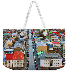 Colorful Reykjavik Iceland 7276 Weekender Tote Bag