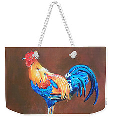 Colorful Rooster Weekender Tote Bag