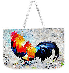 Colorful Rooster Weekender Tote Bag