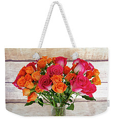 Colorful Rose Bouquet Weekender Tote Bag
