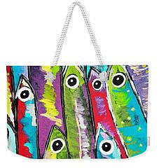 Colorful Sardines Weekender Tote Bag by Scott D Van Osdol