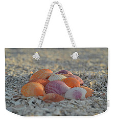 Colorful Scallop Shells Weekender Tote Bag