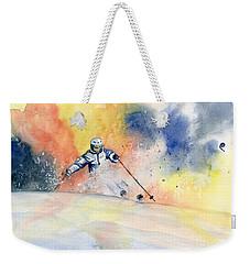 Colorful Skiing Art 2 Weekender Tote Bag
