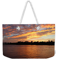 Weekender Tote Bag featuring the photograph Colorful Sky At Sunset by Cynthia Guinn