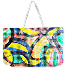 Weekender Tote Bag featuring the mixed media Colorful Soul by Lucia Sirna