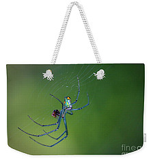 Colorful Spider In Web Weekender Tote Bag