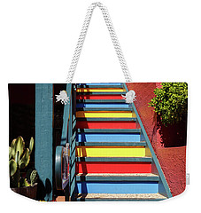 Weekender Tote Bag featuring the photograph Colorful Stairs by James Eddy