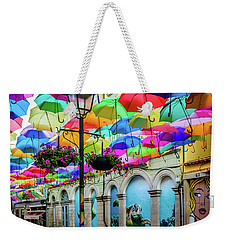 Colorful Street Weekender Tote Bag