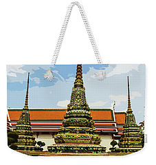 Colorful Stupas At Wat Pho Weekender Tote Bag