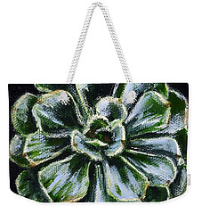 Weekender Tote Bag featuring the painting Colorful Succulent by Sandra Estes