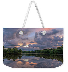 Colorful Sunset At The Lake Weekender Tote Bag