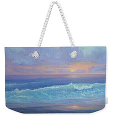 Cape Cod Colorful Sunset Seascape Beach Painting With Wave Weekender Tote Bag