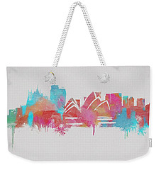 Colorful Sydney Skyline Silhouette Weekender Tote Bag by Dan Sproul