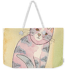 Colorful Tabby Weekender Tote Bag by Terry Taylor
