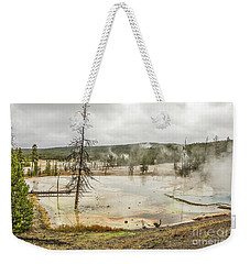Weekender Tote Bag featuring the photograph Colorful Thermal Pool by Sue Smith