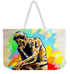 Colorful Thinker Weekender Tote Bag