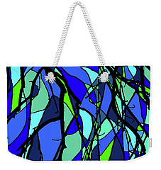 Colorful Tree Abstract Blue Weekender Tote Bag