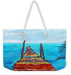 Colorful Tropical Pier Weekender Tote Bag