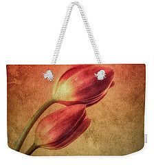 Colorful Tulips Textured Weekender Tote Bag