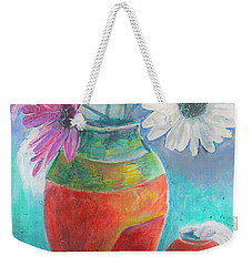 Colorful Vases And Flowers Weekender Tote Bag