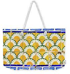 Colorful Vintage Portuguese Tiles Weekender Tote Bag