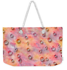 Colorful Water Drops On Original Watercolor Painting Weekender Tote Bag by Georgeta Blanaru