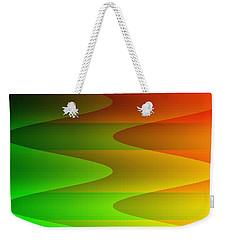 Weekender Tote Bag featuring the digital art Colorful Waves by Kathleen Sartoris