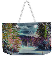 Weekender Tote Bag featuring the photograph Colorful Winter Wonderland by David Patterson