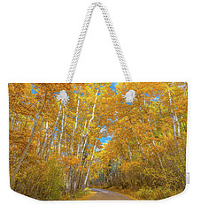 Weekender Tote Bag featuring the photograph Colors Of Fall by Darren White