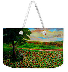 Sunflowers In Sunset Weekender Tote Bag
