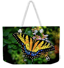 Weekender Tote Bag featuring the photograph Colors Of Nature - Swallowtail Butterfly 003 by George Bostian