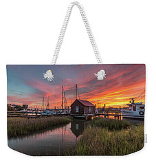 Colors Of Shem Creek - Mt. Pleasant Sc Weekender Tote Bag