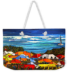 Weekender Tote Bag featuring the painting Colors Of St Martin by Patti Schermerhorn